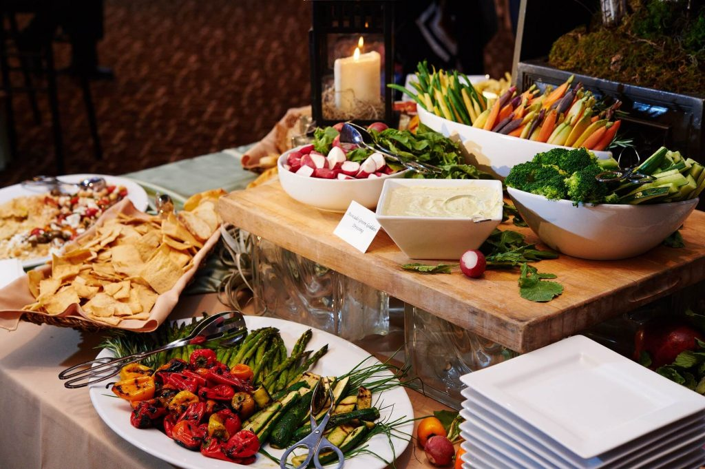 Custom Catering Services | Philadelphia and the Main Line | Vegetable and Greens Station