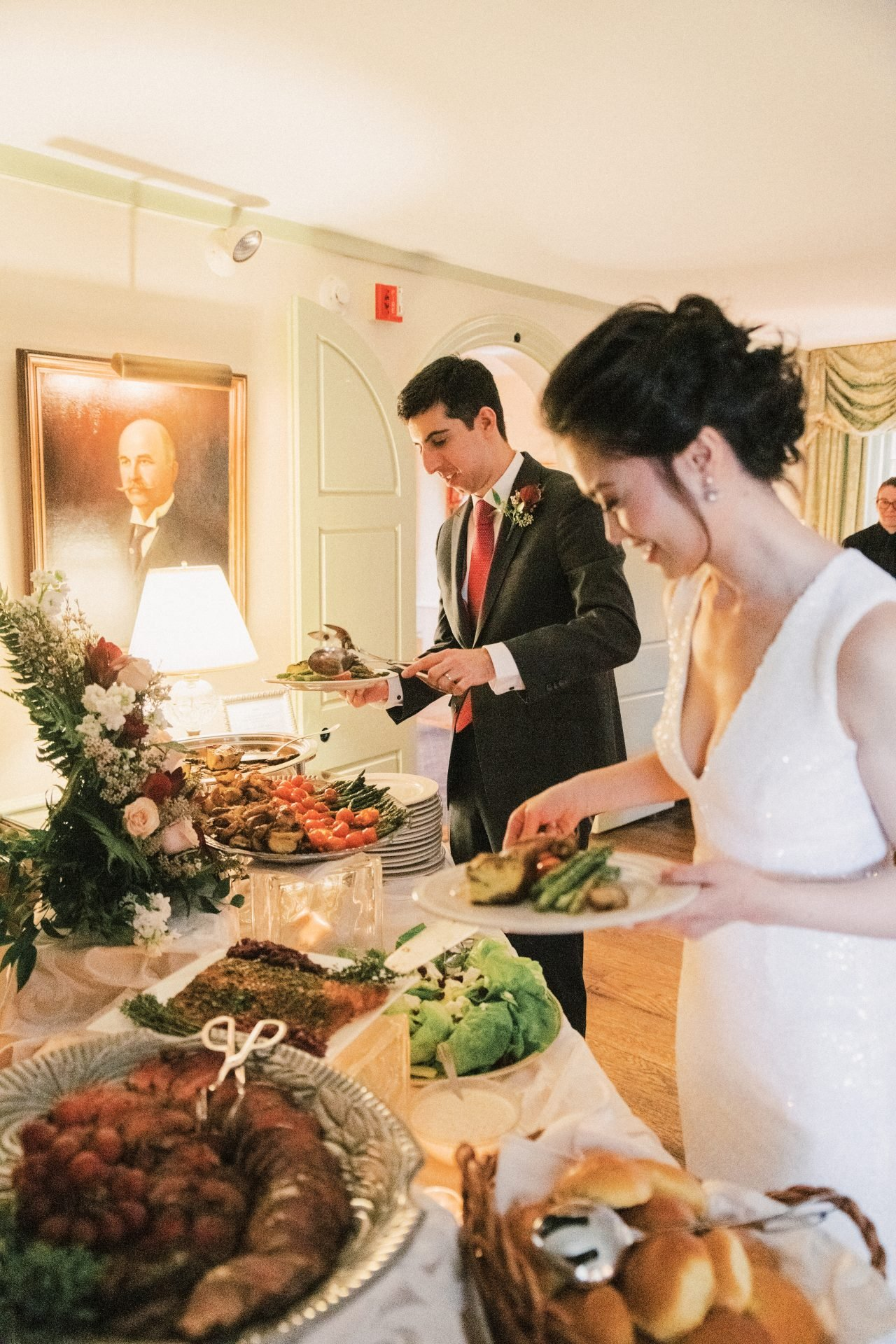 Buffet-Style Wedding Reception